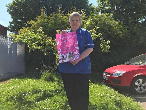 The nurse is urging people to take part in the Virtual Butterfly Walk to raise money for breast cancer